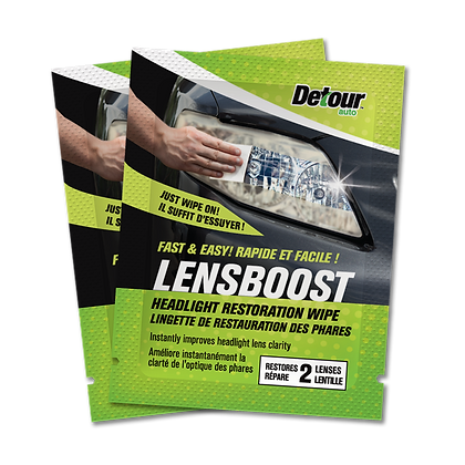 LensBoost™ Headlight Restoration Wipes (2 Wipes)