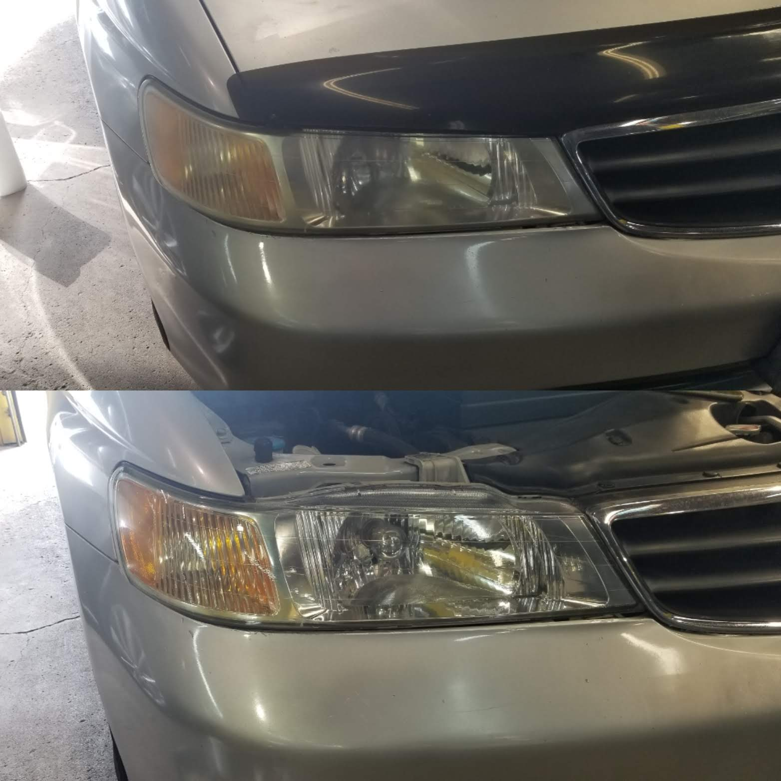 LensBoost Headlight Restoration Wipes Before and After