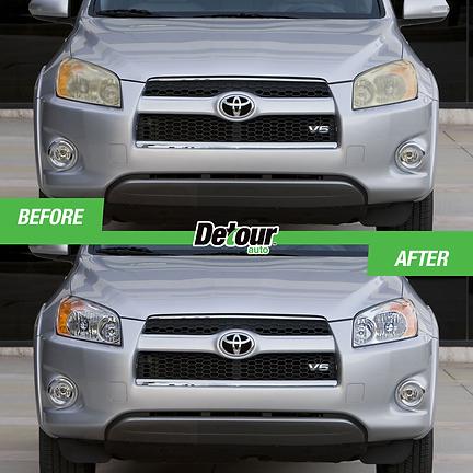 LensBoost headlight restoration wipes Rav 4