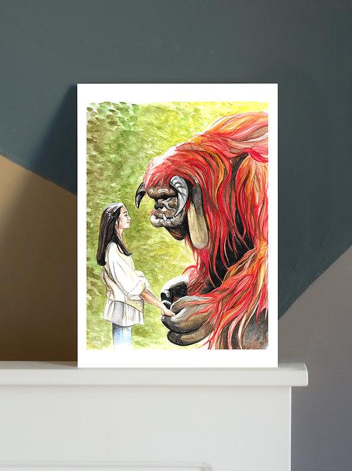 'Ludo Friend' A4 Print