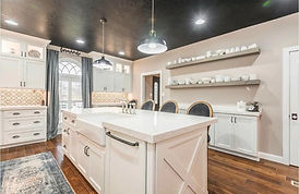 white granite kitchen island country sink
