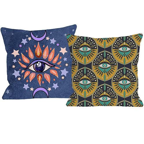 Tribal Hamsa Hand Evil Eye Cushion Cover Middle East Culture Decorative Pillow