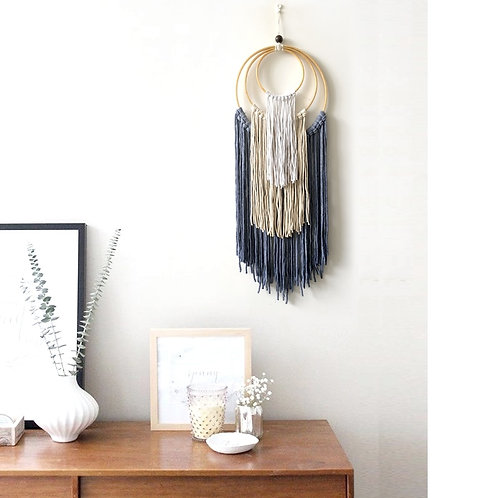 Mexican Home Decor Hand-Woven Macrame Dyed Tapestry Wall Hanging