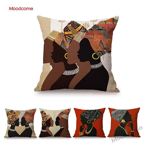Abstract African Women and Men Black Culture Home Decorative Sofa Throw Pillow