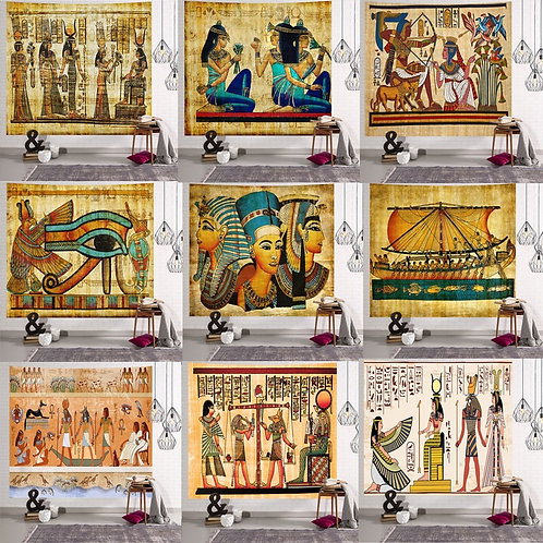 Yellow Ancient Egypt Tapestry Wall Hanging Home Decor