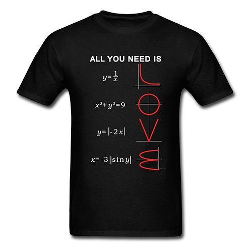 Geometric Algebra Equation Graph T-Shirts All You Need Is Love T Shirt