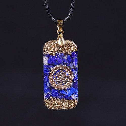 Natural Lapis Lazuli Reiki Energy Necklace Orgonite Pendant Drop Shipping