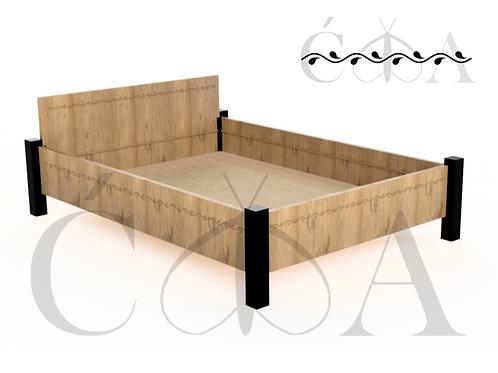 Łóżko z frezowanym wzorem5