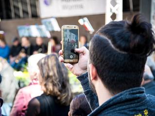 Smartphones em eventos