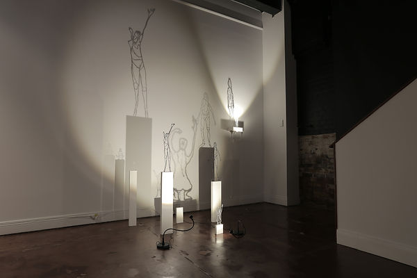 Drawing, shadow drawing, light, figure, installation, artwork