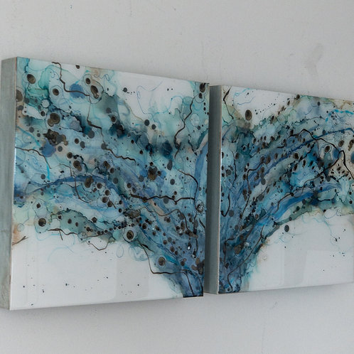 """Point of Entry 12""""x12"""" diptych (set of two)"""