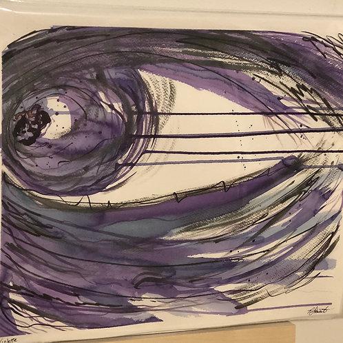 Violette 14x17 work on paper