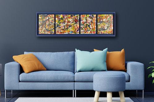 Grafitti Series (custom framed) 13x41