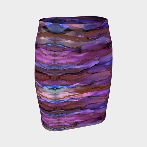 Fitted Skirt - Copper Sky