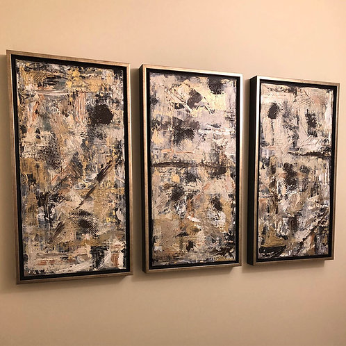 "Urbanity Series (custom framed) 10x20"" triptych"