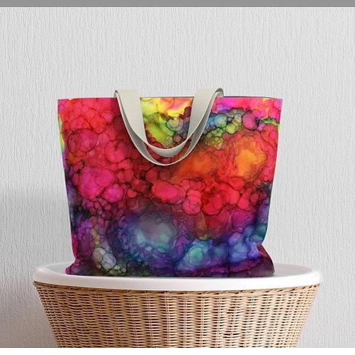 In Rainbows Large Tote Bag