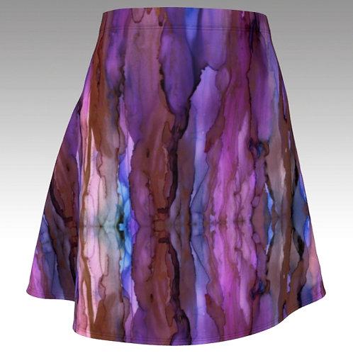 Flared Skirt - Copper Sky