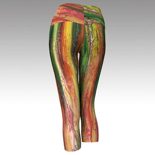 Yoga Capri Leggings - Free Spirit