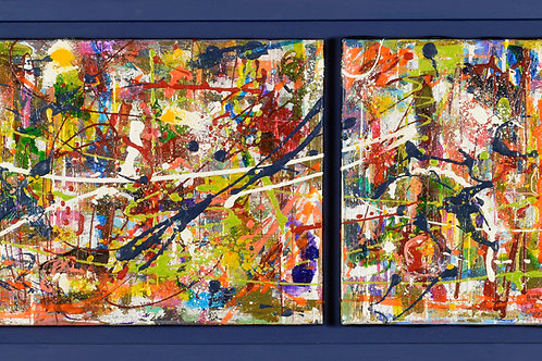 Grafitti Series (custom framed) 13x41