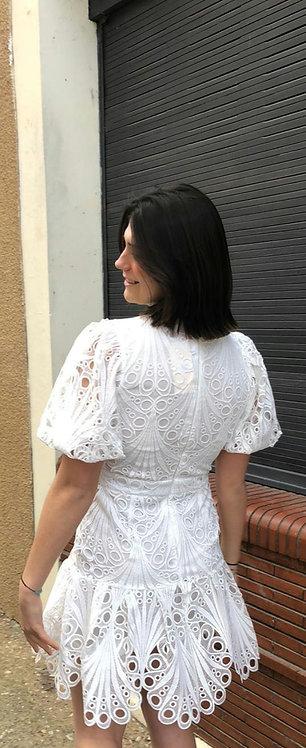 Robe Dentelle Bianca