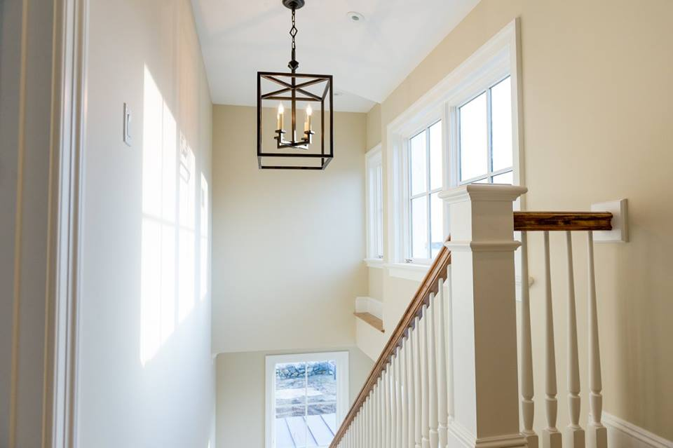 classy sunlight white staircase