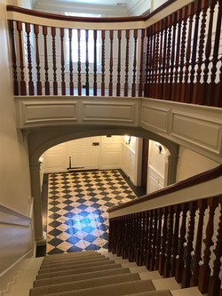 interior staircase and flooring