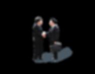 3P Business Handshake