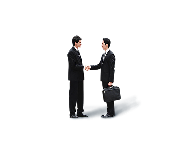 3P Business Handshake