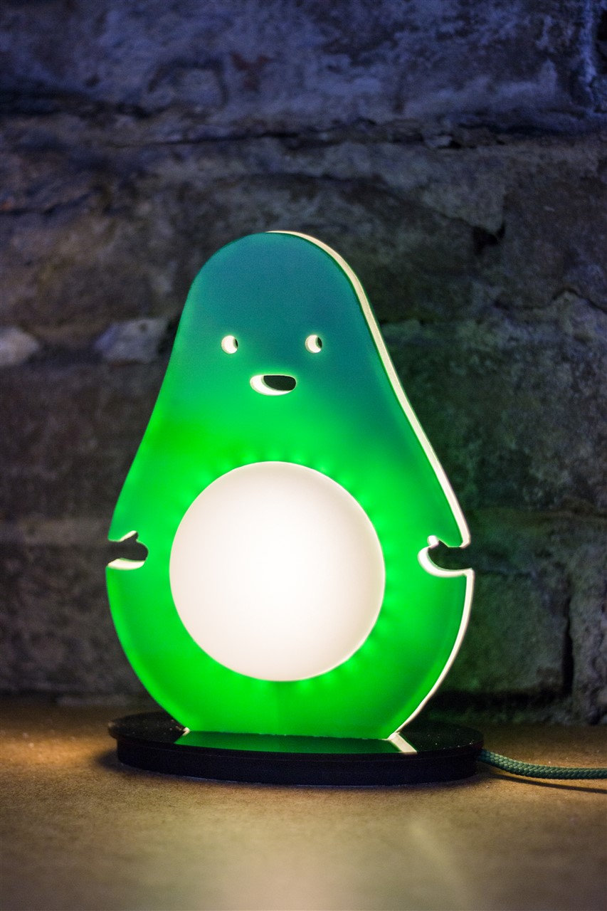 avocado green table lamp LED