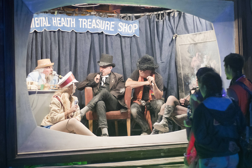 Mental health treasure shop - a real life TV show that was a part of an art car