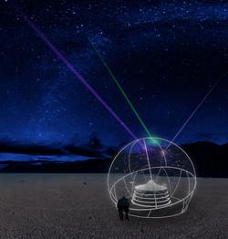the open air planetarium