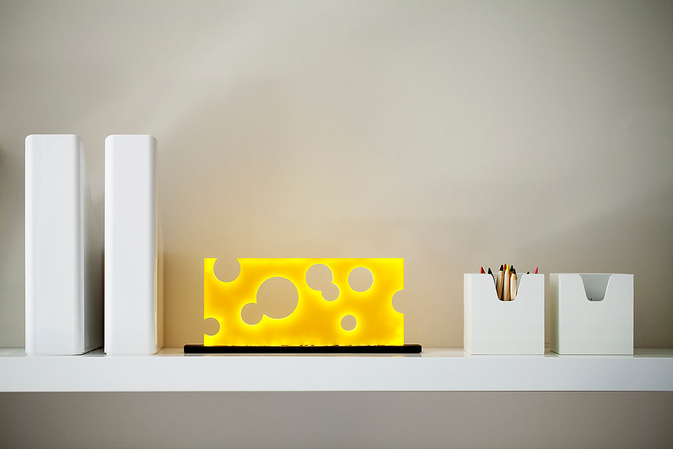 cheese yellow table lamp light fixture