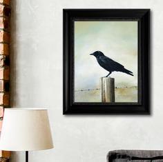 """""""Untitled Crow"""" - 9"""" x 12"""" acrylic board"""