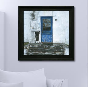 """""""Steps (and a Blue Door)"""" - 30"""" x 30"""" acrylic on board"""