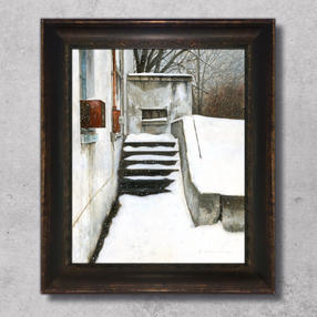 """Even Here in Winter - 16"""" x 20"""" acrylic on board"""