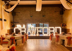 County Durham Light up wedding letters