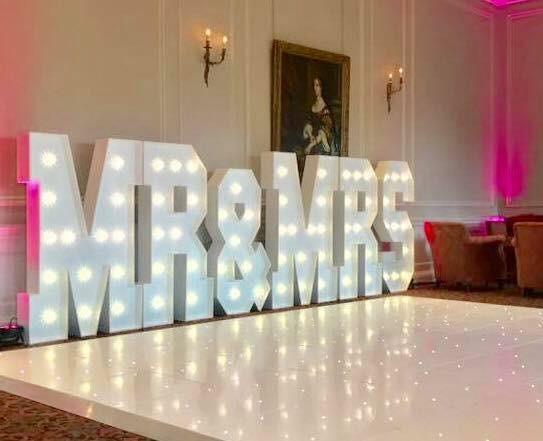 LED Mr & Mrs at Crathorne Hall Hotel