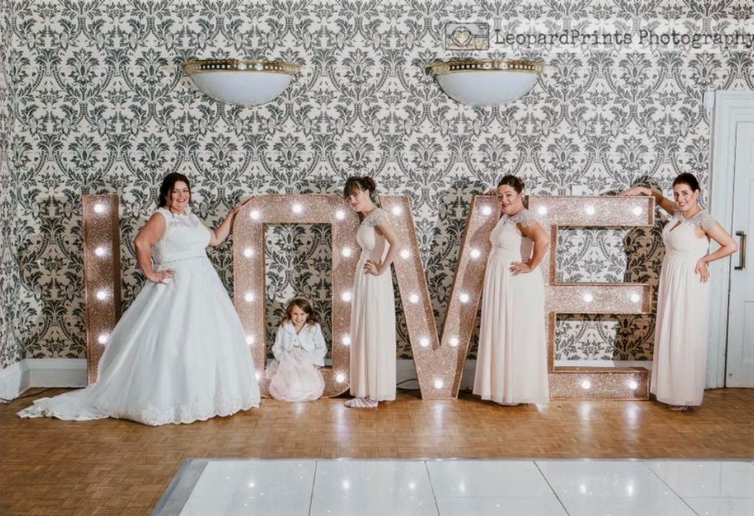 Rose Gold Love Letter Hire