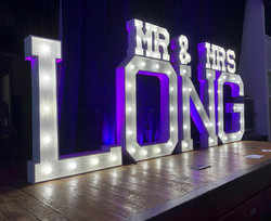 Mr & Mrs Surname wedding letters