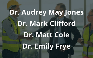 Dr. Audrey May Jones Dr. Mark Clifford D