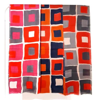 Sciarpa cashmere 100% stampa a quadri