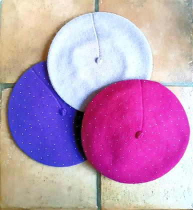 Basco lana e viscosa con punto luce