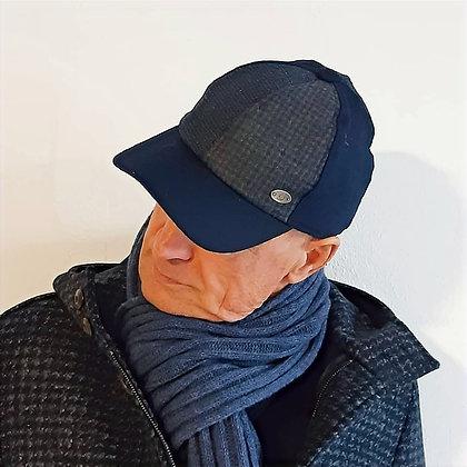 Berretto con frontino patchwork