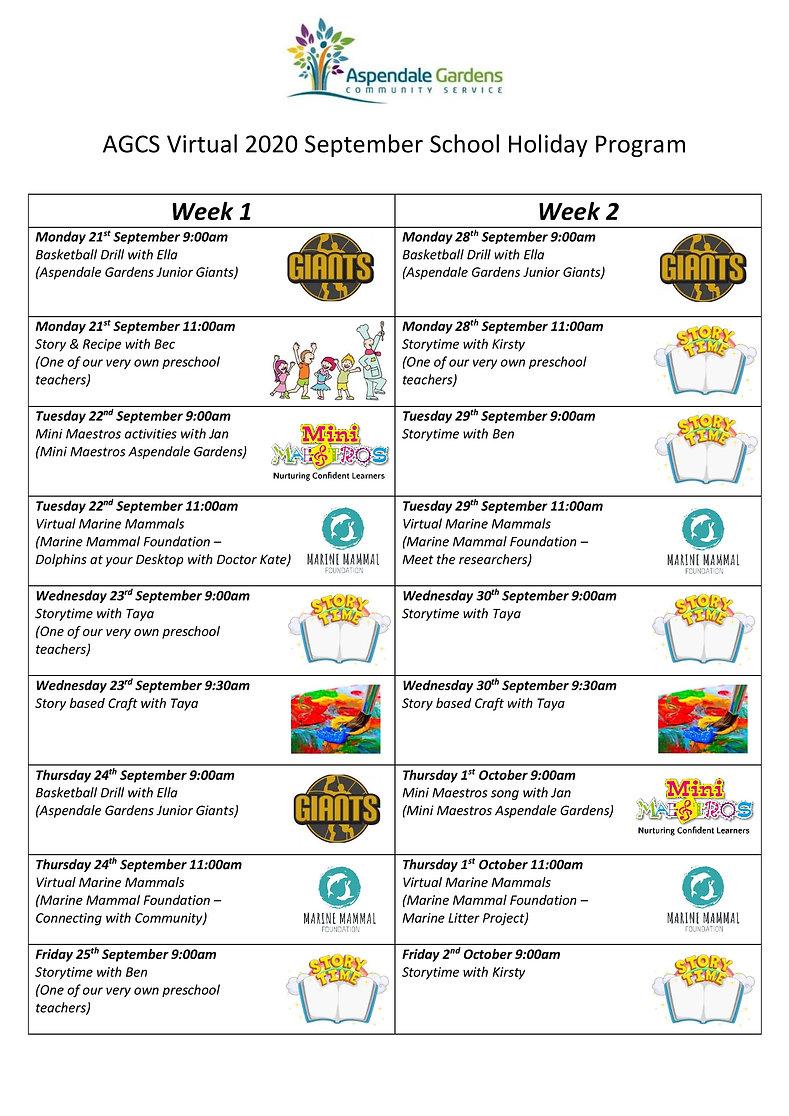 AGCS September School Holiday Program 20