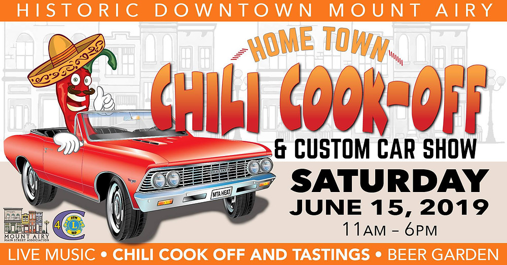 Home Town Chili Cook-off & Custom Car Show . June 15, 2019