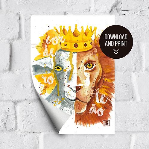 Arte Digital // Cordeiro e o Leão