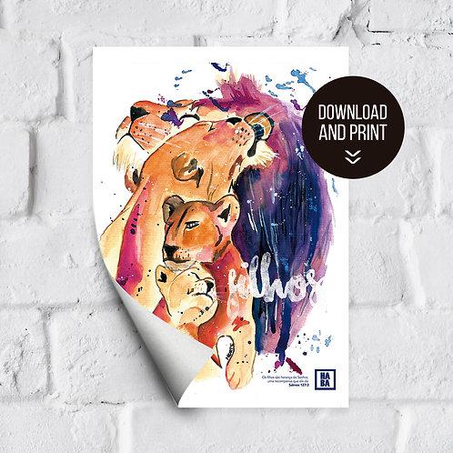 Arte Digital // Filhos - Leões