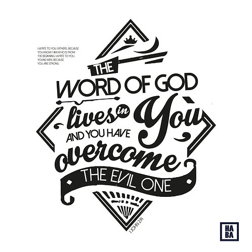 Arte Digital // You are strong the word of god lives in you...