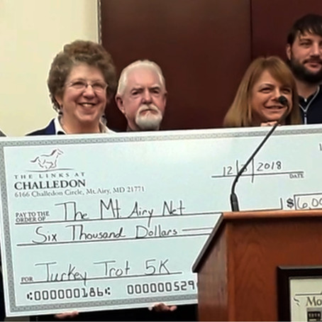 Mount Airy Turkey Trot Brings in $6,000 to Benefit Mount Airy Net!