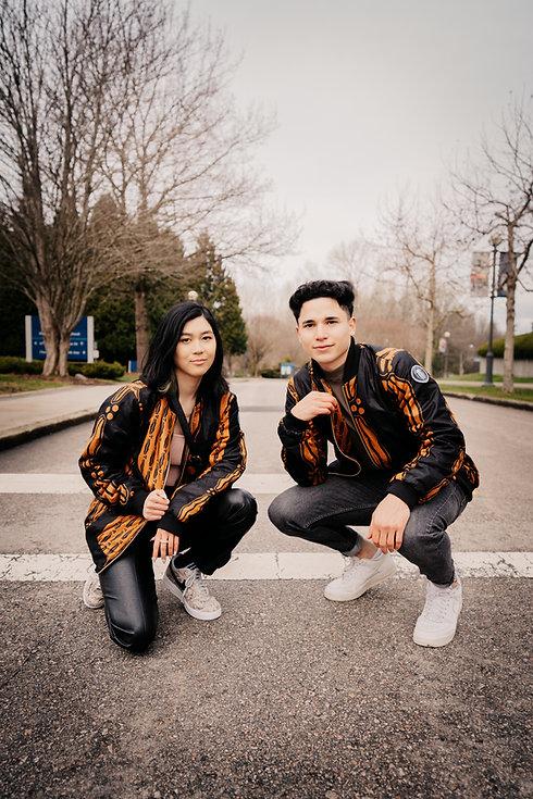 Nico & Mirabel - Orange_Black Jacket - H